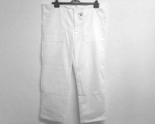 Pánské pracovní kalhoty bílé